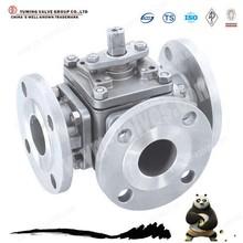 Hot sale GB ANSI L type tee flange ball valve Q44F