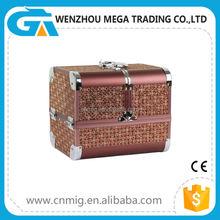 Brown Color Popular Aluminium Custom Design Makeup Case