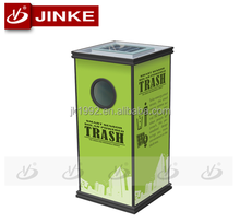 Outdoor Creative Advertising Solar Waste Can For Public