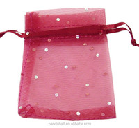 100pcs/pack 9x7cm Colored Mesh Organza Jewelry Bags(OP077Y-9)