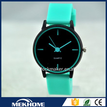 new fashion vogue woman colorful watch, cheap custom silicon watch wholesale