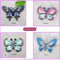 colorful enamel butterfly bulk rhinestone Alloy brooch Wholesale brooch
