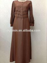 Ropa de color marrón árabe kaftan para mujeres