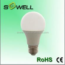 5W-11W E27 2835SMD Plastic+Aluminum CE/RoHS A60 LED lighting bulbs