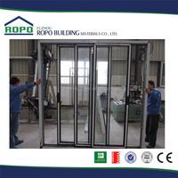 Good peputation factory price UPVC six panels barthroom slide fold shutter door