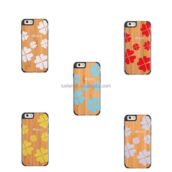 Unique Handmade Natural Wood Wooden Hard bamboo Case Cover for iPhone 6
