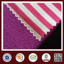 Feimei polar fleece stripe bonded polar fleece knit fabric