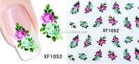 Free shipping 50pcs/moq 3D Mix Color Floral Design Nail Stickers Decals Beautiful Fashion Manicure Accessories sticker