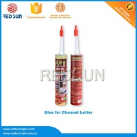 High density glue for aluminum for Sign letters