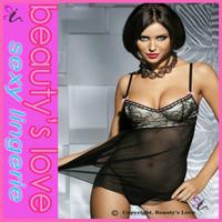 Elegant lingerie mature women sexy babydoll super sexy babydoll transparent sleepwear for women