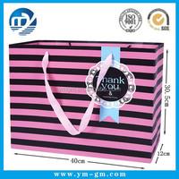 Gift custom luxury wholesale reusable foldable paper shopping bag