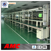 pvc belt with work tables motorcycle mobile phone led light assembly line
