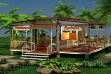 Xgz design Low cost steel structure morden living prefab shipping container house/coffee for sale