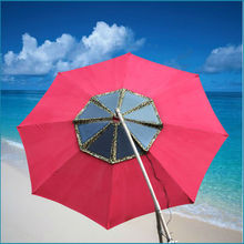 Patent product! Hottest beach umbrella 60Watt solar charger for beach/square