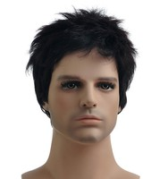 Afro Wigs for Black Men Human Lace Front Wigs Mens Wigs