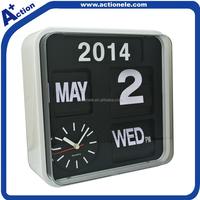Auto Flip Wall Clock With Calendar
