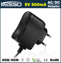 9V 500mA Adapter 100V-240V 4.5W Switching Power Supply with Global Plug