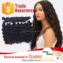 2015 Top Selling Deep Wave Style 5A Grade Factory Price Human Hair Extensions