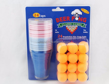 blister packing Beer pong cup with ball set