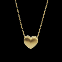 New Design Hot Novelty Items Women Simple Silver Wiredrawing Treating Technology Heart Pendant Necklace Best Gift for Birthday
