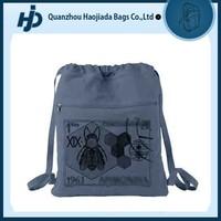 Stylish active cotton canvas cinch drawstring bag