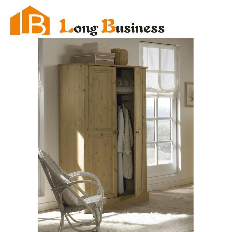 Lb Dd3054 Pine Wood Folding Wardrobe With Double Doors