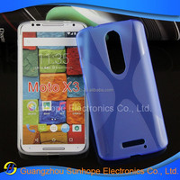 China Manufacturer X line soft tpu mobile phone skin for moto X3 phone ste