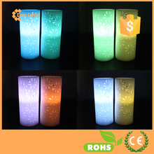 LED Wax Hollow Candles Color Changing Battery Operated Candles By Festival Delights