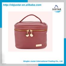2015 newest PU makeup bag,designer cosmetic bag quality toilet storage organizers bag with handle