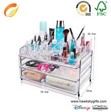 Plexiglass Jewelry Sunglass Bamboo Plastic Storage Box Drawer