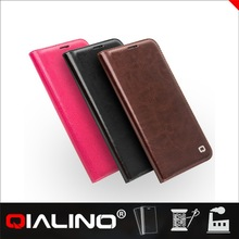 QIALINO Professional Customized Leather Flip Case For Samsung For Galaxy S6