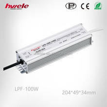 LPF-100W single output 36V/58V/72V waterproof LED power supply with PFC function passed SGS,CE,ROHS,TUV,KC,CCC certification