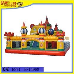 Top quality hot sell inflatable giant bear fun city for sale/colorful inflatable playground equipment