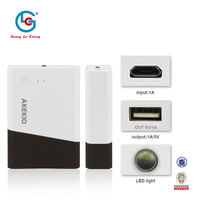 Hot selling new design custom-made high quality universal flashlight 6000/7800mah power bank with fc ce rohs for blackberry z10