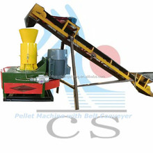 CS 2015 CE high quality 150 to 200 kg per hour production capacity saw dust pellet machine for fuel purpose 30kw flat die