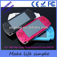 Game console 8GB 4.3'' mp5 game palyer with built in 2000games