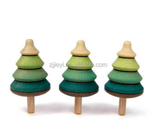 mini spinning top tree shape spinning top wooden christmas tree spinning top