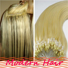 6A GRADE mink brazilian hair,nano ring hair extension,hair bundles wholesale
