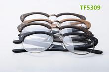vogue design acetate frame/temples optical glasses frames with metal bridge metal half rim CE FDA with free laser logo