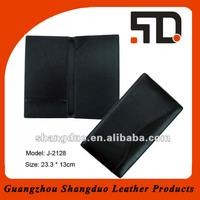 Hot Selling Fashion Leather File Holder With Wave Strip On Cover
