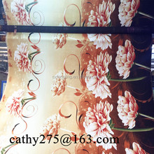 Polyester microfiber Changxing bedsheet/mattress/quilt 3D disperse printed fabric peach skin fabric bed sheet fabric bedding