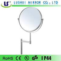 Small portable table standing makeup mirror