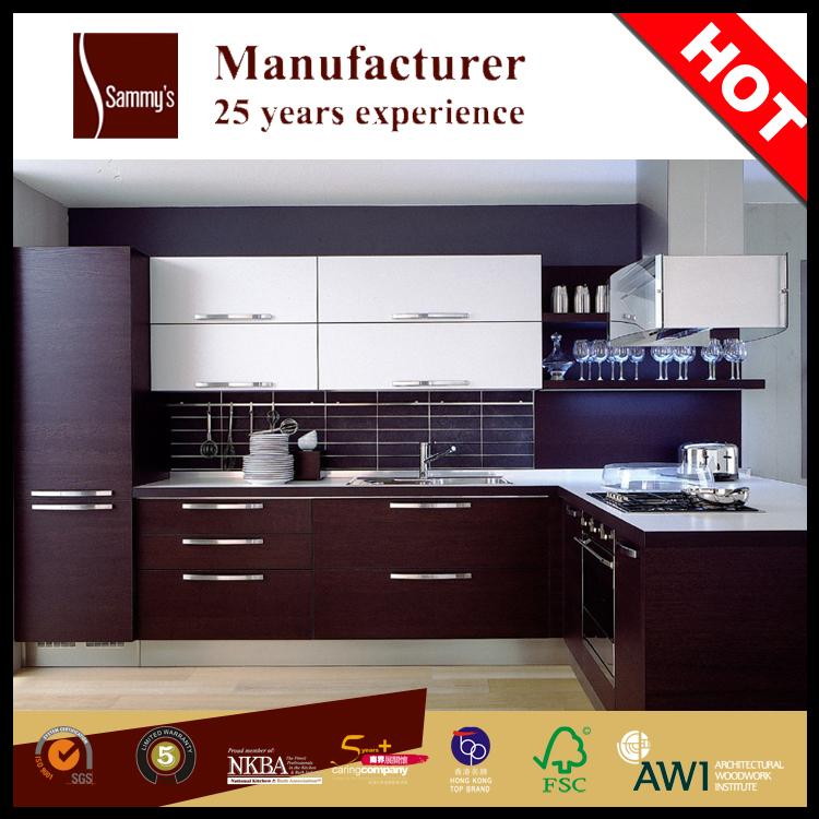 Caliente venta de madera moderna cocina de diseño de madera de ...