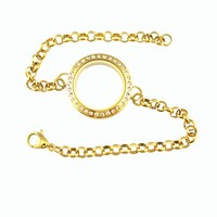 New fashion lover 25mm, 30mm heart gold floating memory love locket jewelry