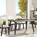 moderno em madeira base mesa de jantar com alto brilho mesa de jantar mobiliário