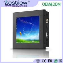 Small size 8 inch touch screen all in one computer fanless industrial pc