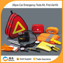 China Gold supplier portable 26pcs Car Emergency Tool Kit