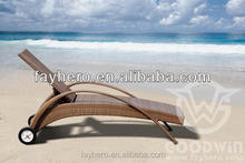 GW3088 POP outdoor furniture rattan chaise lounge