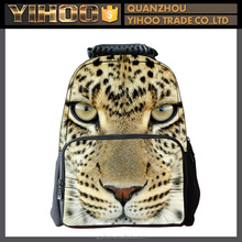 Customized new fashion style 1680D polyester school backpack bag high quality 17 inch cool printed school backpack