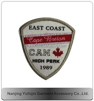 high quality machine embroidery car badge emblems, oem and odm support